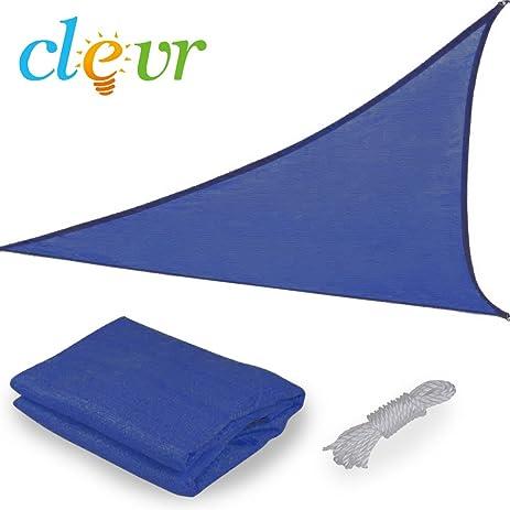 Clevr Premium UV 12u0027x12u0027x12u0027 Triangle Sun Shade Canopy Sail for Outdoor  sc 1 st  Amazon.com & Amazon.com : Clevr Premium UV 12u0027x12u0027x12u0027 Triangle Sun Shade ...