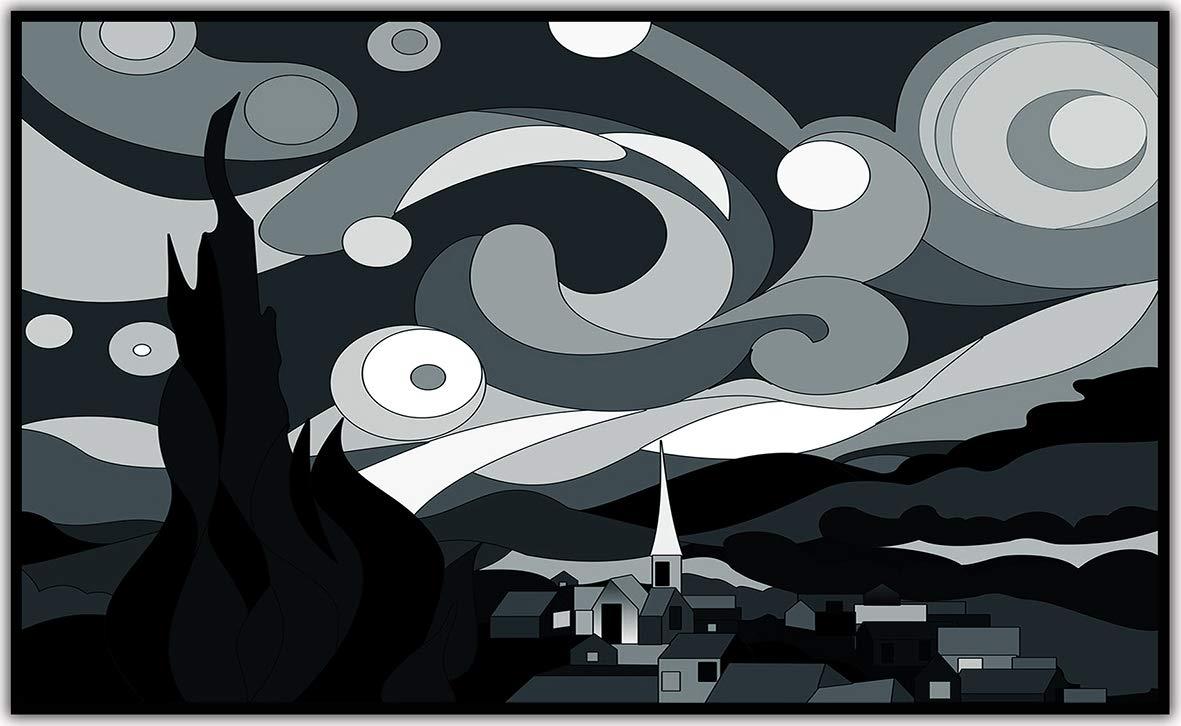 139. Saxophonspieler Ölgemälde Black Edition Patentiert 200+ Bilder -1000Watt Bildheizung in HD Qualit/ät mit T/ÜV//GS Schwarzer Rahmen K/önighaus Fern Infrarotheizung