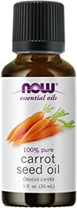 NOW Essential Oils, Carrot Seed Oil, Grounding Aromatherapy Scent, Steam Distilled, 100% Pure, Vegan, Child Resistant Cap, 1-Ounce