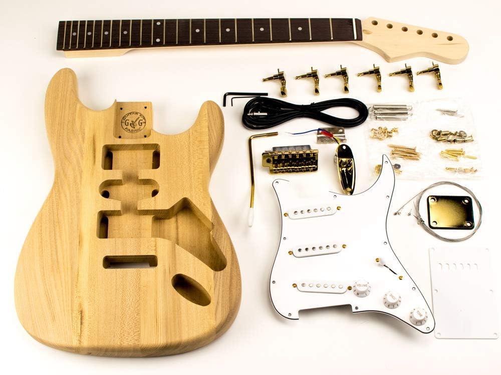 DiY - Kit de guitarra Fender Stratocaster dorado, color ceniza ...