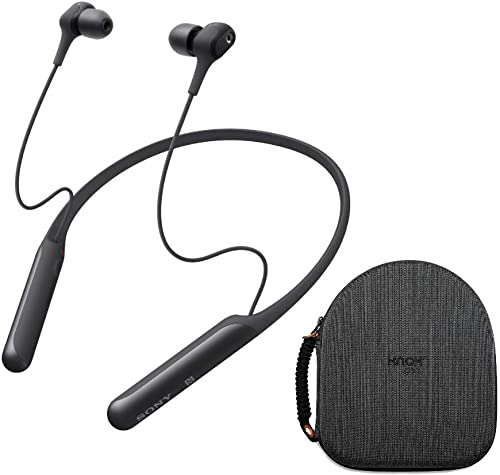 Sony WI-C600N Wireless Noise-Canceling in-Ear Headphones Black with Hardshell Travel Case Bundle