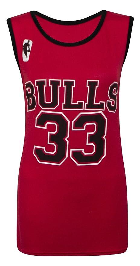 Camiseta sin mangas para mujer - Chicago Bulls 33 - Tallas 8-14: Amazon.es: Ropa y accesorios