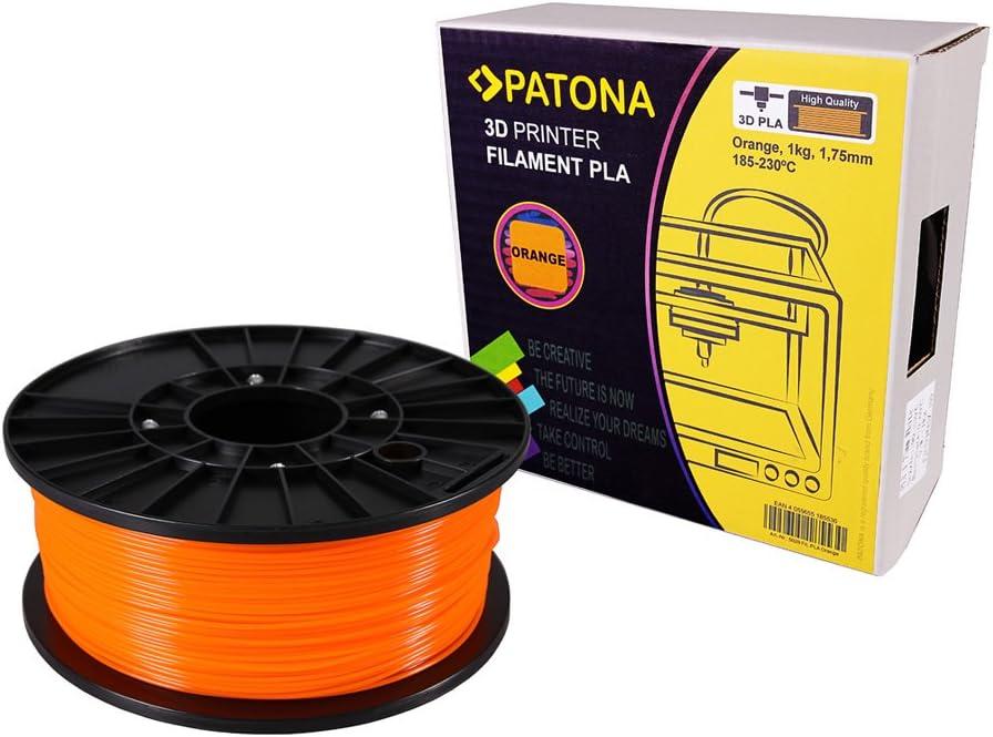 Patona 3d printer filamento PLA Naranja (Bobina/1 kg/1,75 mm ...