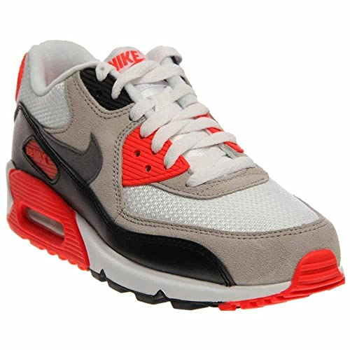 promo code b9712 bc8cb Amazon.com | Nike Kid's Air Max 90 Premium Mesh (GS) Running Shoe ...