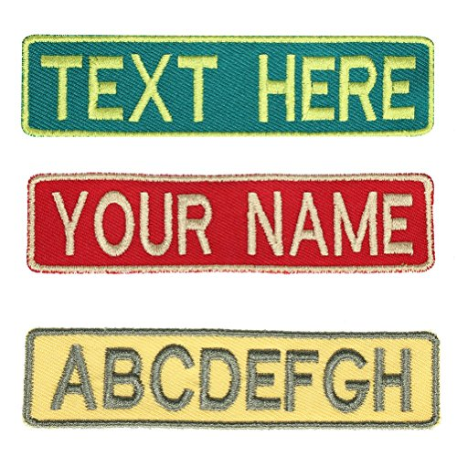 Custom Uniform Name Tapes,Embroidered Military/Tactical Hook Fastener Patches Iron/Sew On Name patch (Red, 3.5