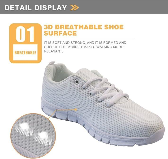 UNICEU Nurse Bear Pattern Lightweight Running Sneakers