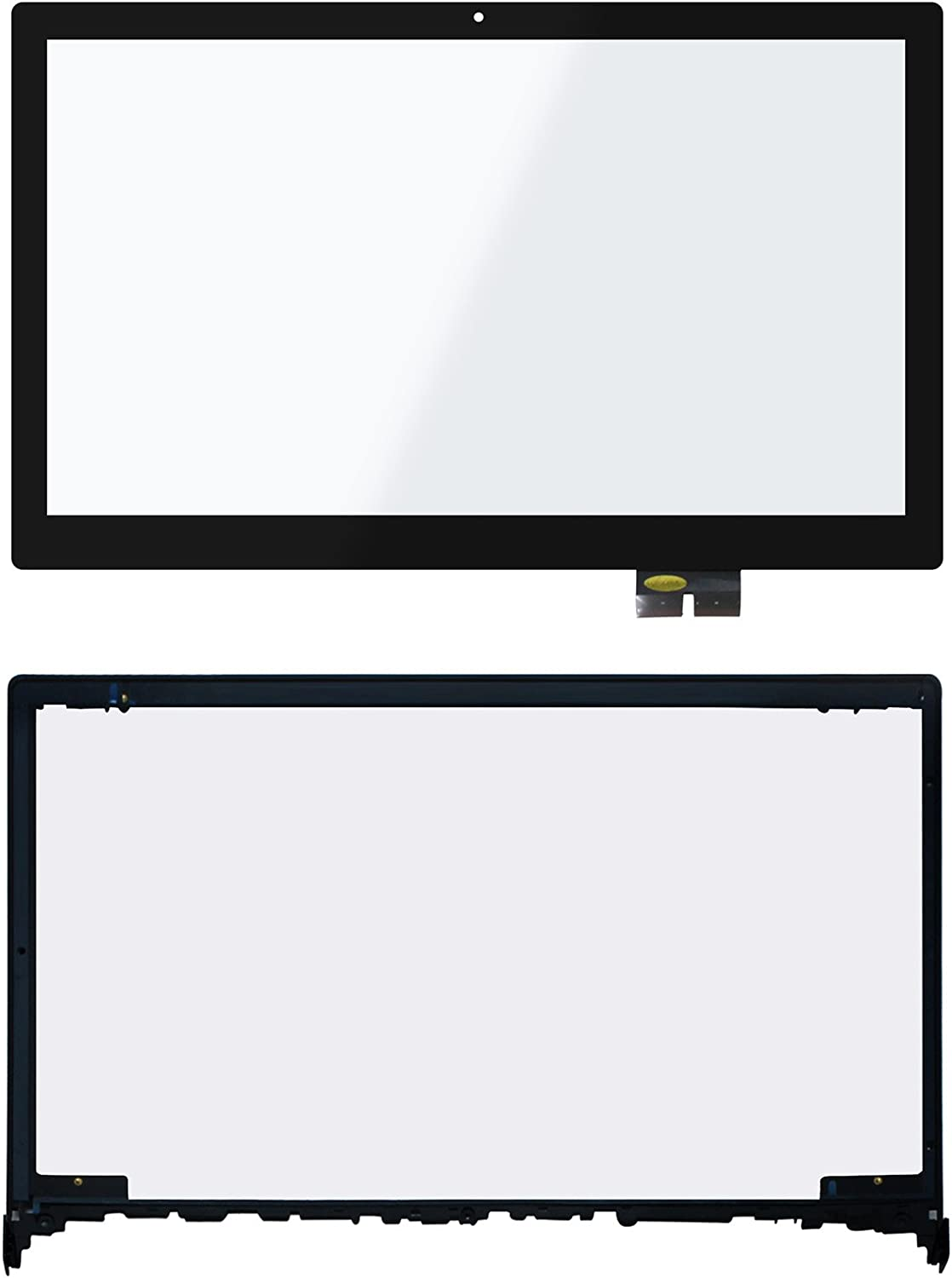 LCDOLED Compatible 15.6 inch Touch Screen Digitizer Front Glass Panel + Bezel Replacement for Lenovo Flex 2 15 15D 59418271 59422158 59422161