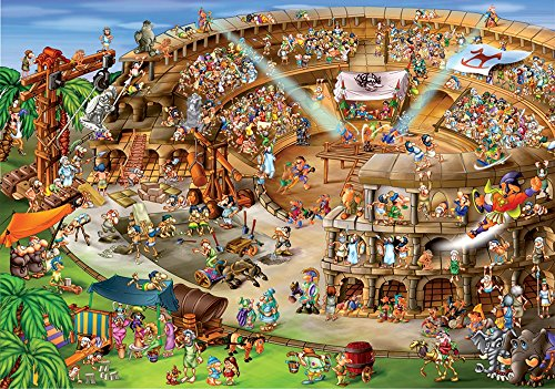 D-Toys Cartoon Collection - Roman Amphitheatre Jigsaw Puzzle, 1000-Piece