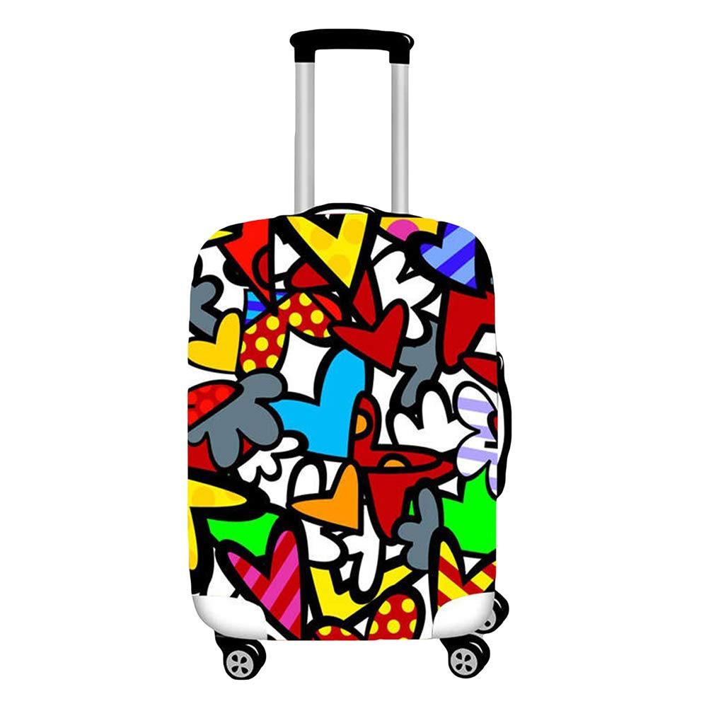 YiiJee Elastische Kofferschutzh/ülle Kofferh/ülle Luggage Cover Gep/äck Cover Reisekoffer H/ülle