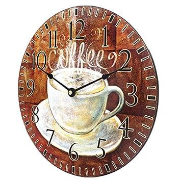 La Crosse Technology 404-2631C La Crosse 12 inch Round Coffee D cor Analog Wall Clock