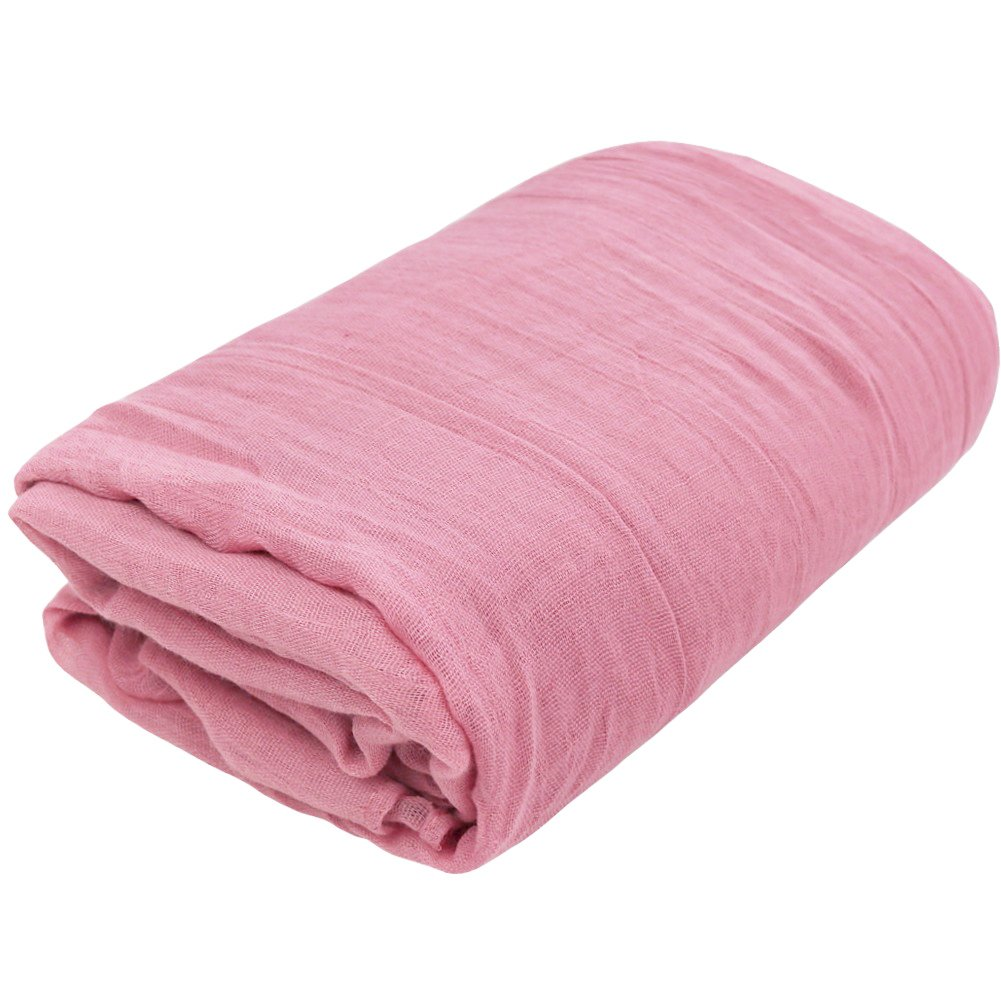 TiaoBug Newborn Baby Cheesecloth Wrap Cloth Blanket Photography Photo Props (Pink, One Size)