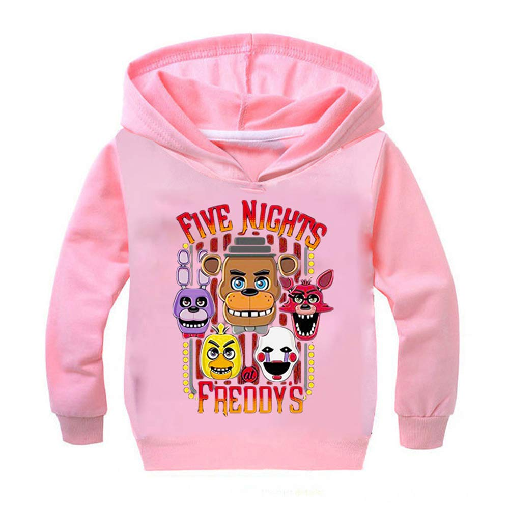 NINIUBAL Five Nights at Freddys Pullover Popular Girls Childrens Wear Pullover Sweatshirt Long Sleeve Jumper Casual Long Tops Boys and Girls