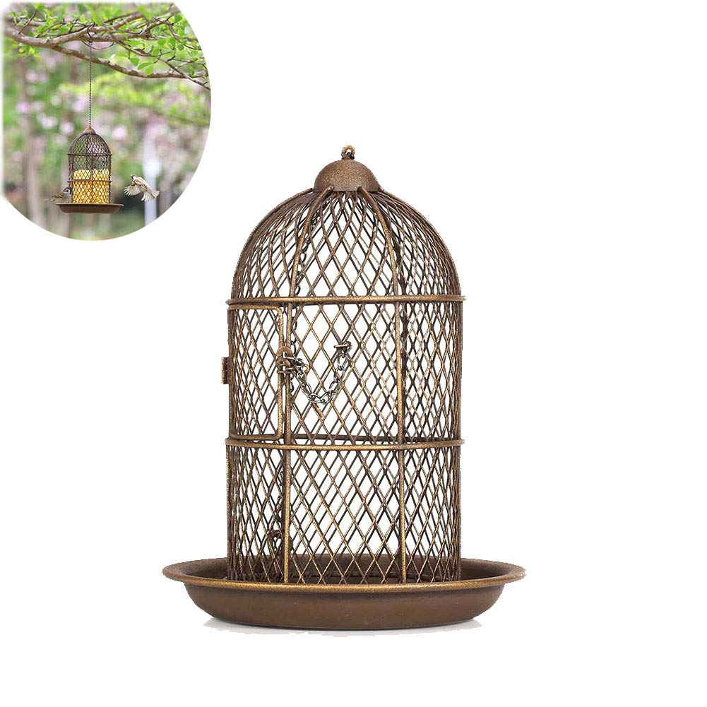 Bird Feeder, Metal Outdoor Hanging Station, Feeding Birds, Bird Food Station, Very Suitable for Gardens, Suitable for Small and Medium Bird Feeding