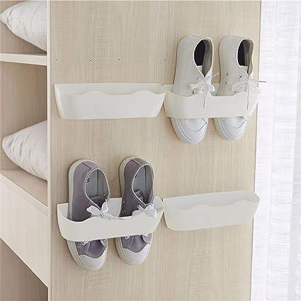 SUPVOX Zapatillas de ba/ño Estante Organizador de Zapatos montado en la Pared Zapatos autoadhesivos Plegables Almacenamiento toallero telesc/ópico hogar Azul