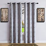 Warm Home Designs Pair of Longer Length 37″ x 96″ Grey Silver 100% Blackout Isolated Thermal Bedroom Curtains. Total Blackout Curtains Contain 2 Panels in Each Package. JE Silver 37 x 96 Review