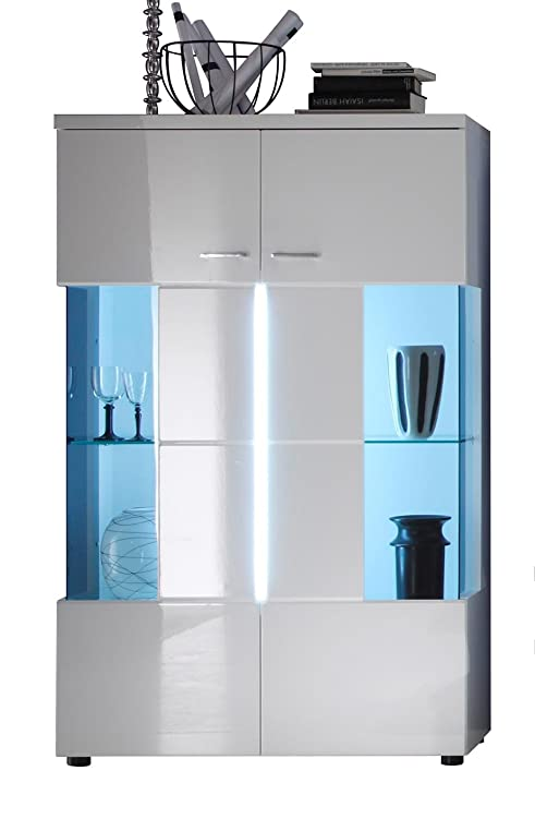 trendteam 1320-035-01 Vitrine Wohnzimmer Highboard Nightlife in ...
