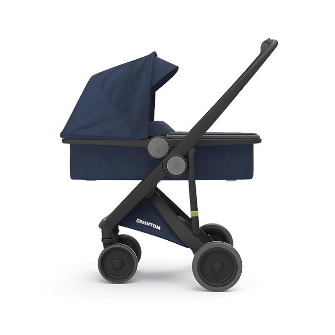 Cochecito UPP Carrycot Chassis negro Kit portabebés azul greentom: Amazon.es: Bebé