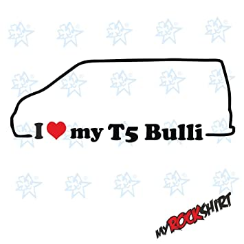 2 X I Love My Vw Bulli T5 Ca 15x5 Cm Silhouette Aufkleber