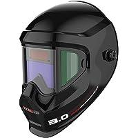Tekware Anti Fog Up True Color Solar Powered Auto Darkening Welding Helmet with SIDE VIEW,4/9-13 Welder Mask for TIG MIG ARC