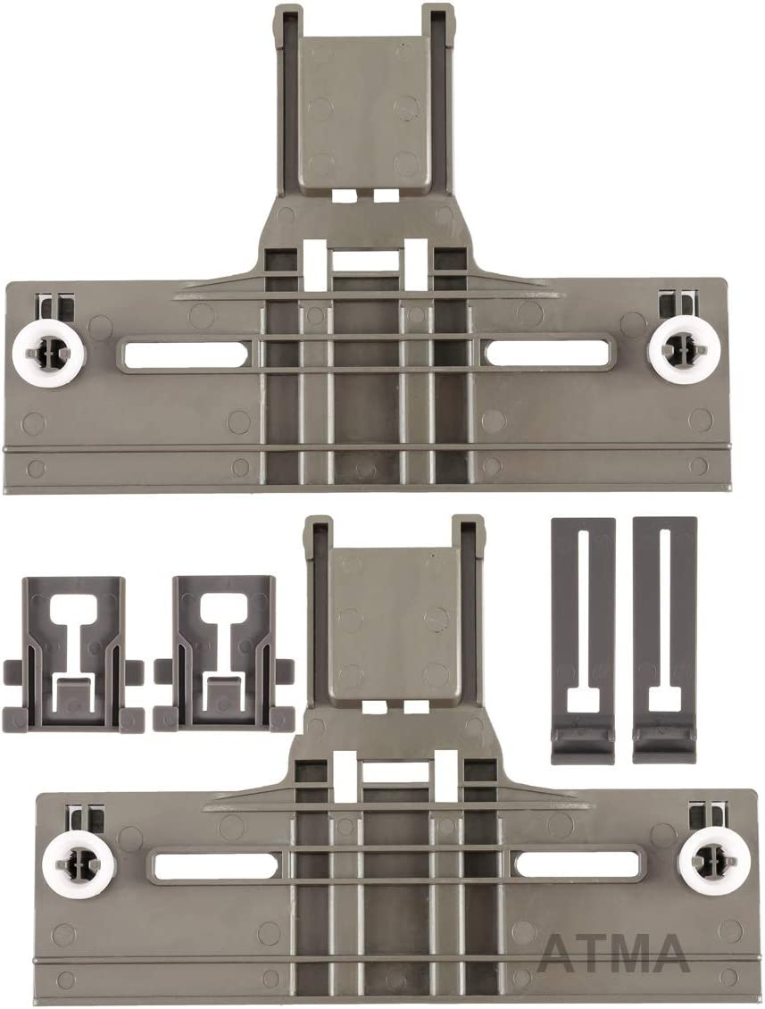 ATMA W10350376 (2) Dishwasher Top Rack Adjuster W10195840 (2) Adjuster W10195839 (2) Positioner- Dishwasher Top Rack Parts Compatible with Kenmore Elite, Kitchen Aid, Whirlpool -W10350374,W10195840