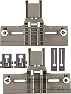 ATMA W10350376 (2) Dishwasher Top Rack Adjuster W10195840 (2) Adjuster W10195839 (2) Positioner- Dishwasher Top Rack Parts Compatible with Kenmore Elite, Kitchen Aid, Whirlpool -W10350374,W10195840