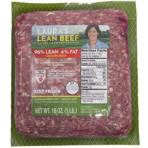 Laura's Lean 96% Lean Ground Beef - 1lb bricks - 8 per case