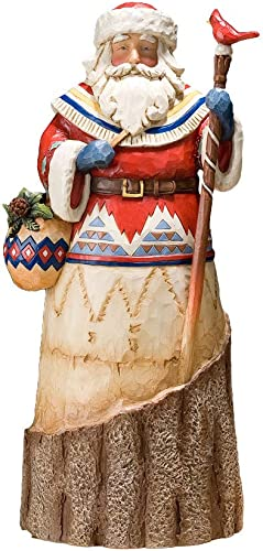 Enesco Jim Shore Heartwood Creek from Lodge Santa with Cardinal Figurine 10.5 in