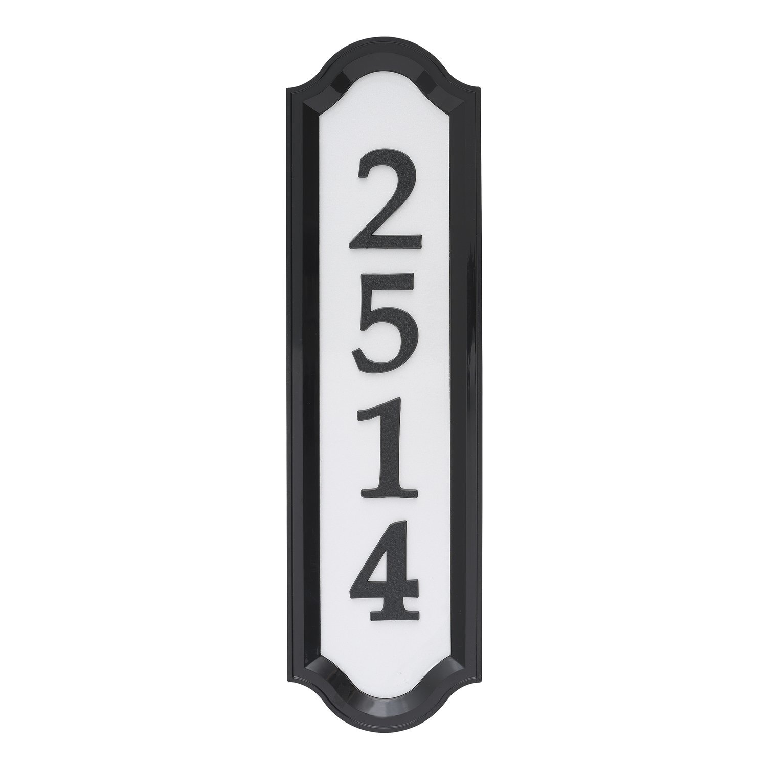 Whitehall Products Standard Wall Nite Bright Richfield One Line Home Address Sign, Black