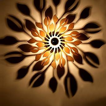 TOYM UK Kreative Skulptur Schatten Wand Lampe Persnlichkeit Dekorative Kunst Bar Wohnzimmer Schlafzimmer Holz Wandleuchte