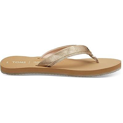 TOMS Champage Shimmer Women's Gabi Flip-Flop Sandals | Flip-Flops