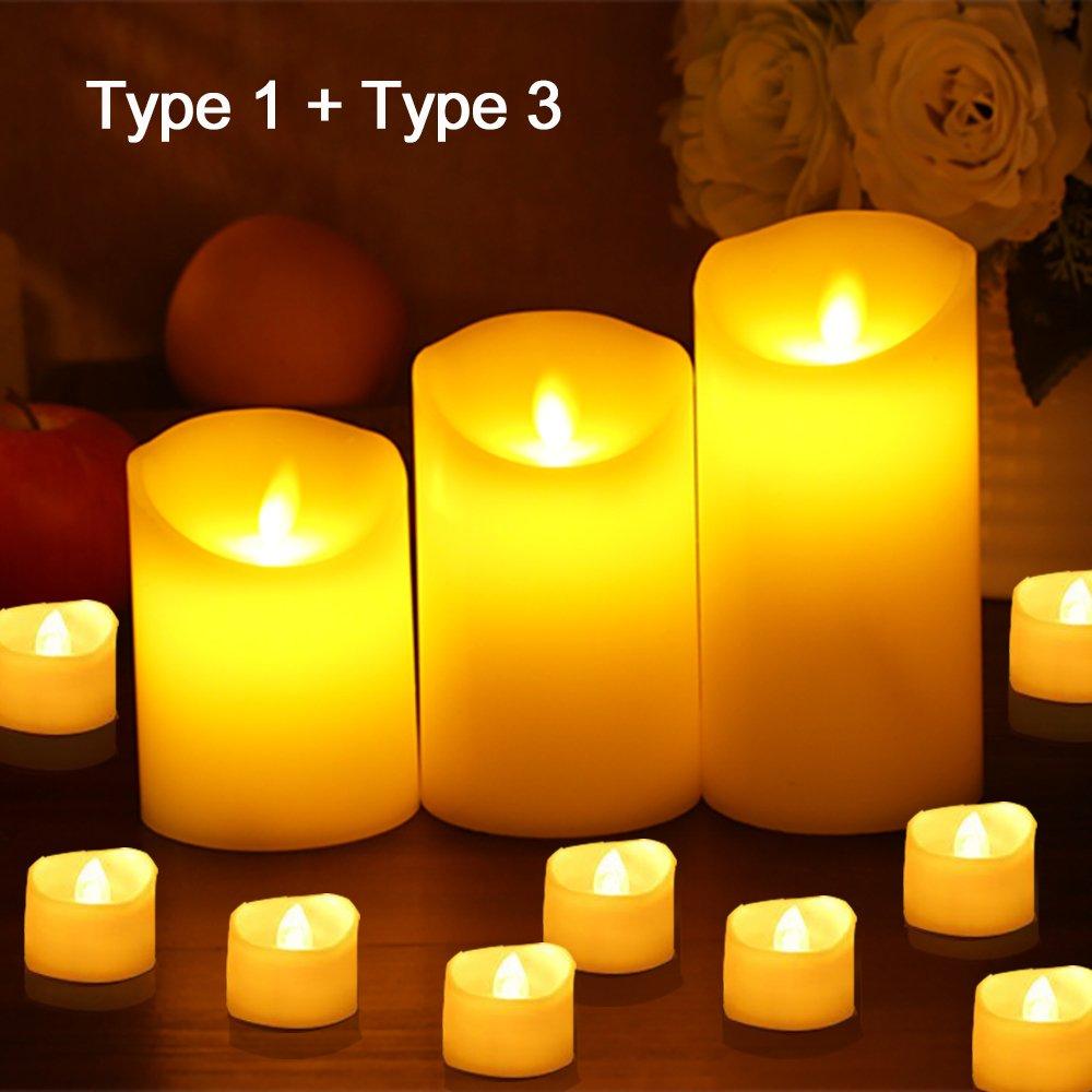 Candele a LED Senza Fiamma Decorazioni Natalizie Image 3