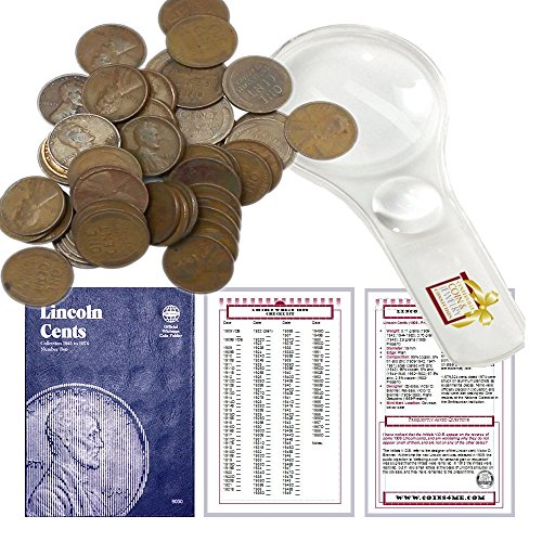 - Lincoln Wheat Penny Starter Collection Kit, Part Two, Whitman [9030] Lincoln Cent Folder Vol. 2, One Roll of Wheat Cents, Magnifier and Checklist, (4 Items) Great Start for Beginner Collectors