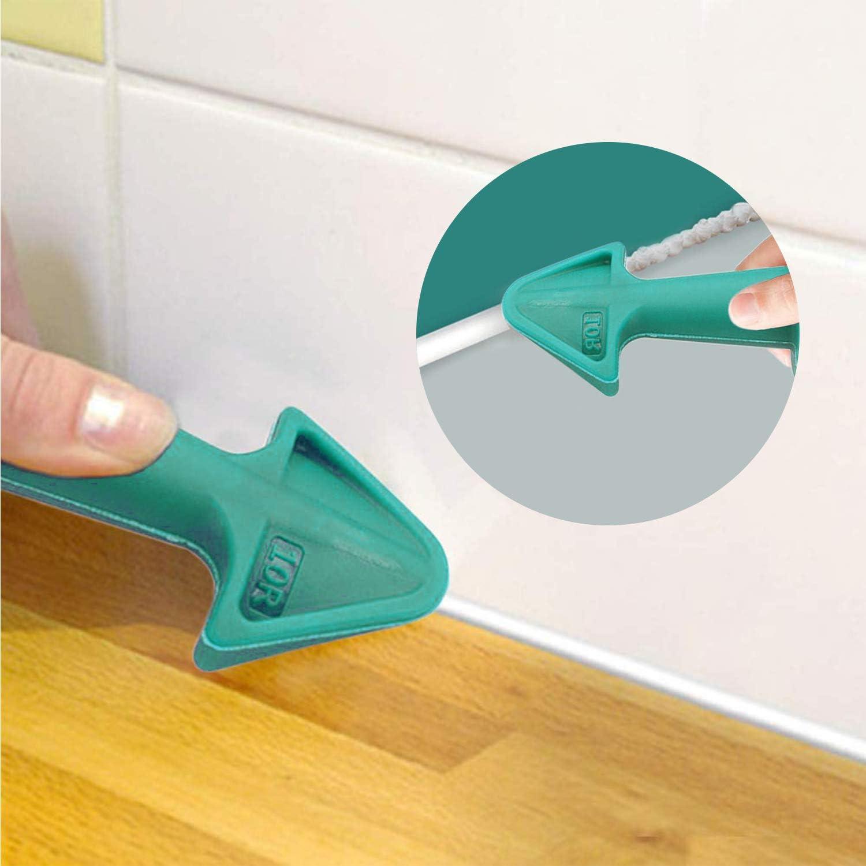 Silicone Caulking Finisher Nozzle,Sealant Nozzle 3PC Nozzle Plus Silicone Caulking Tools Caulking Tools Silicone Sealant Finishing Tool Grout Scraper Great Tools for Kitchen Bathroom Window