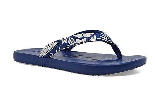 ea87bda6345467 SoftScience The Waterfall Palm Women s Flip Flop - Blue