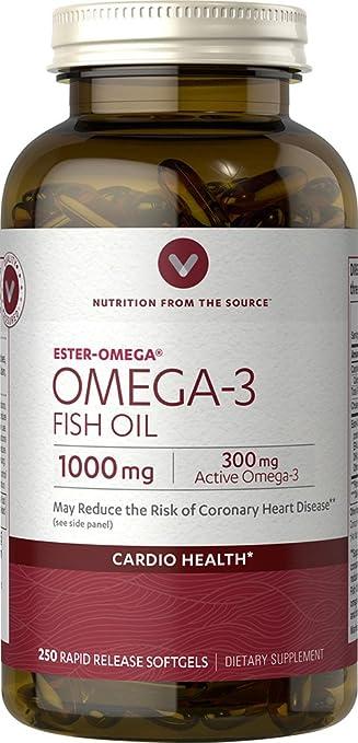 Amazon.com: Vitamina mundo Aceite de Pescado Omega-3, 250 ...