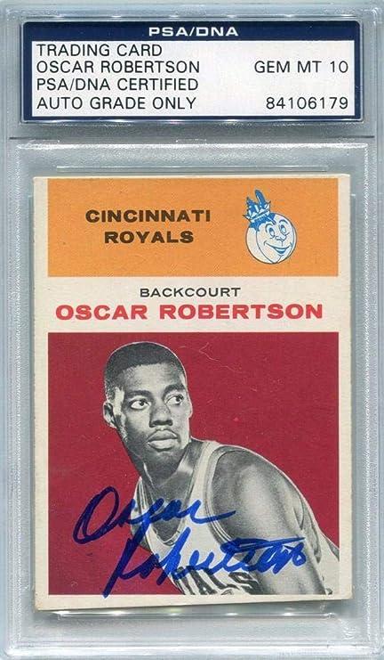 785adc0cb Oscar Robertson Autographed 1961 Fleer Rookie Card (PSA DNA) - Basketball  Autographed Cards