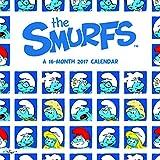"""Trends International 2017 Wall Calendar, September 2016 - December 2017, 11.5"""" x 11.5"""", Smurfs"""