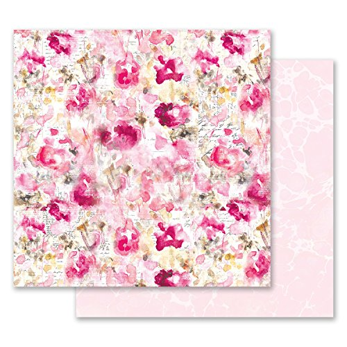 (Prima Marketing Inc. 849283 Misty Rose 12x12 Paper - Scattered Dreams, Multicolored)