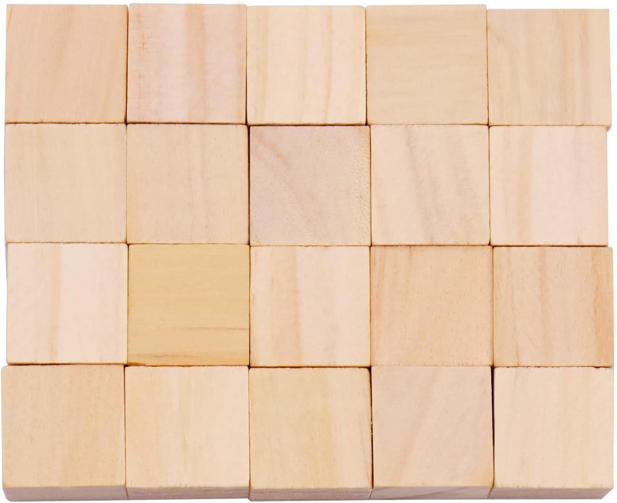 artesan/ías y proyectos de Bricolaje 30mm 20mm Bloques Cuadrados de Madera para la fabricaci/ón de Rompecabezas WEKON 40pcs Cubos de Madera