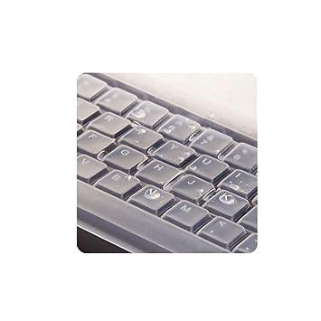 Ba Zha Hei Universal Funda Protectora de Teclado para computadora de Escritorio Silicona Ultradelgada Tamaño: