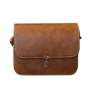 5616fe39dc1c5 Umhängetasche Damen Btruely Schultertasche Elegant Schule Messenger  Handtaschen Vintage Taschen (Braun)