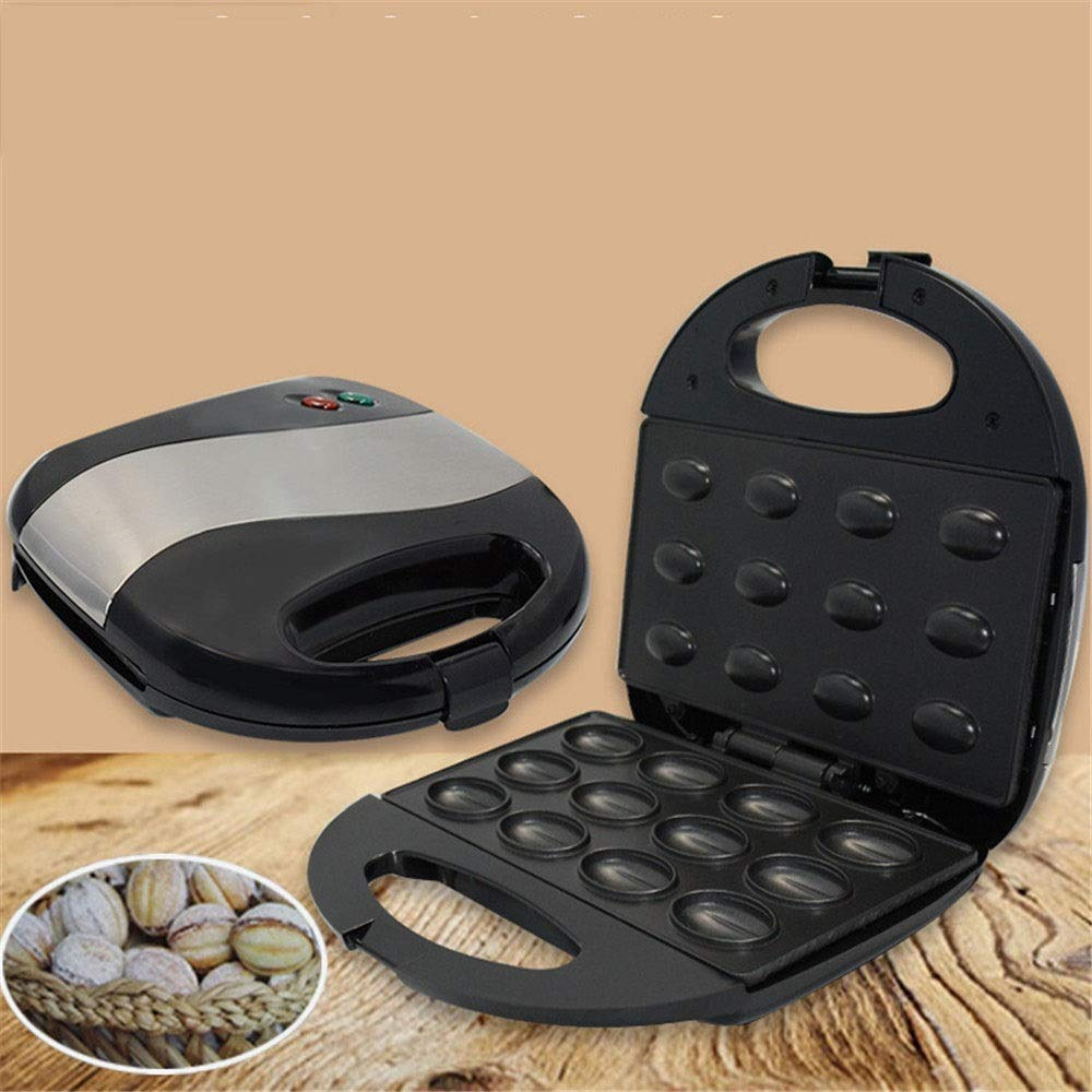 Crepe Maker Household Nut Cake Maker Baking Machine Family Health Grill For Kitchen Electric Non-Stick (Color : Black, Size : 23x23x7cm) by DEPRQ