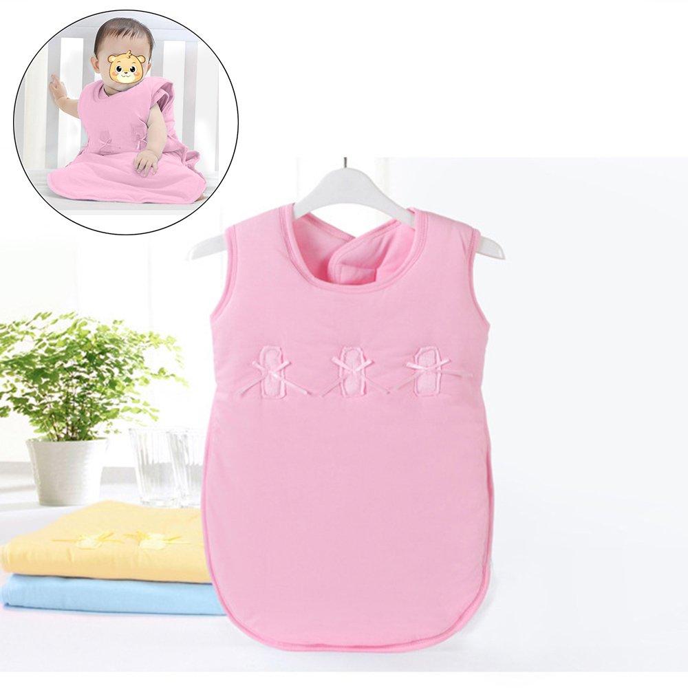 Baby Sleeping Bag Sleep Sack Bag Sleepingbag Sleepwear Short Sleeves Perfect Kids Gifts in Winter Autumn 0-12 Months (pink)
