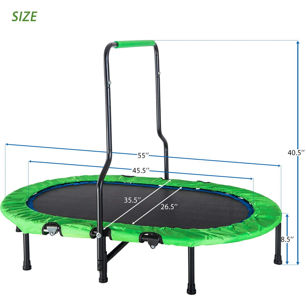 Merax Mini Rebounder Trampoline with Handle for Two Kids, Parent-Child Trampoline (Green) by Merax (Image #7)