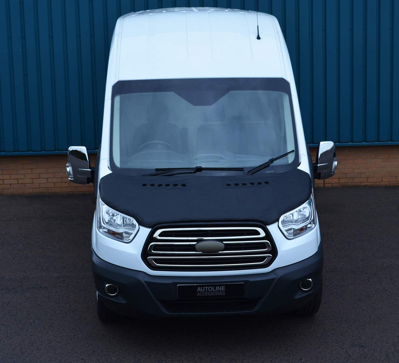 Black Front Bonnet Bra//Protector To Fit Transit 2014+