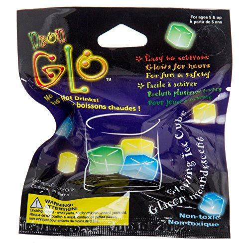 Glo Ice (ibobby, Neon Glo Ice Cube, Pack of 48, 1 inch, Multicolour)