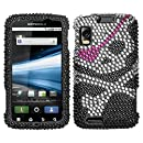 MyBat Diamante Protector Cover for Motorola MB860 (Olympus/Atrix 4G) - Retail Packaging - Skull