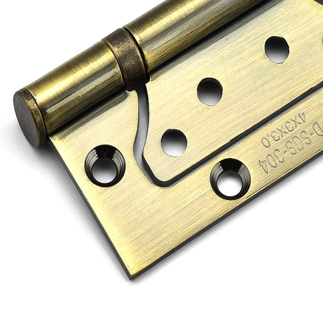LICTOP Non-Mortise Mute Door Hinges,Oil Rubbed Red Bronze Stainless Steel Cabinet Door Hinges 2 Pcs