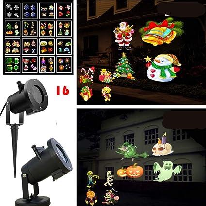 Luces del proyector de Halloween 16 patrones Diseño de ...