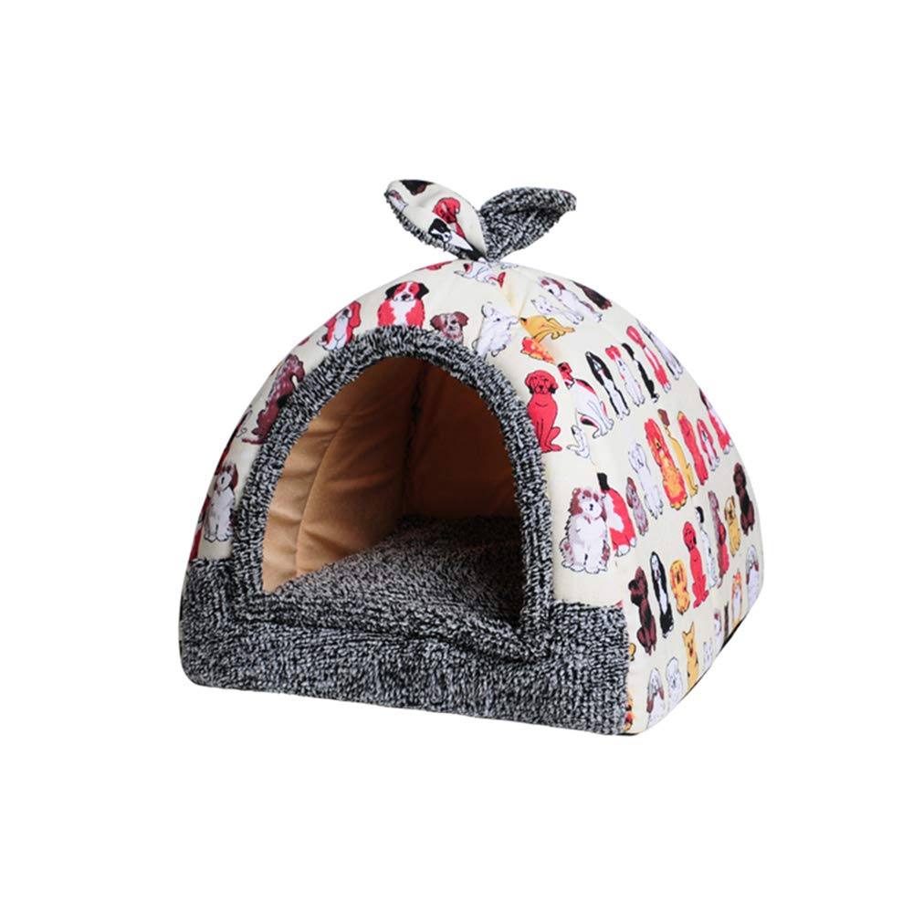 3 Medium 3 Medium YQQ Cat Nest Kennel Dog House Bite Resistance Sleeping Bag Pet Supplies Dual Use (color   3, Size   M)